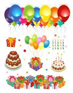 material vetor feliz aniversário