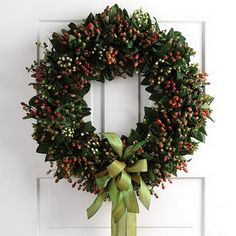 floral wreaths for living rooms   christmas-floral-wreath.jpg