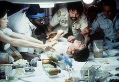 A scene from the 1979 film, Alien