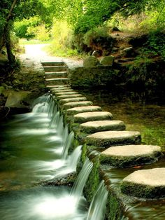 Stone path in Newcastle, Northern Ireland:many many times crossed these stones.