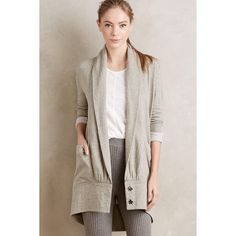 Pure + Good Draped Cocoon Cardigan ($88) ❤ liked on Polyvore featuring tops, cardigans, moss, drape cardigan, drape top, cocoon cardigan, brown tops and drapey cardigan