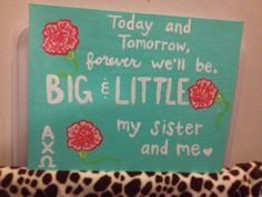 Big/Little reveal week! #AXO #sorority #crafts