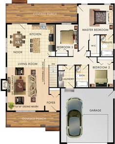 Beaver Homes and Cottages - Mapleton Bungalow House Plans, Craftsman House Plans, Dream House Plans, Small House Plans, House Floor Plans, Home Room Design, House Design, Beaver Homes And Cottages, Model House Plan