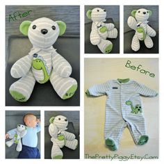 SMALL Memory Bear custom memory bear teddy bear clothing bear baby gift personalized bear bereavement gift keepsake bear - Oliver Baby Name - Ideas of Oliver Baby Name - Memory Bear SMALL custom memory bear teddy bear clothing Diy Teddy Bear, Custom Teddy Bear, Teddy Bears, Sewing Crafts, Sewing Projects, Bereavement Gift, First Birthday Gifts, Baby Memories, First Baby