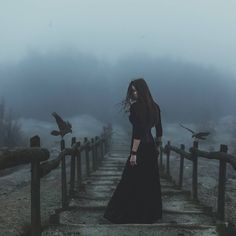 She stopped.  She nearly looked back.  That would cost her everything.  With the ravens at her elbows, she turned to the forest and the gathering night, leaving the big house and all its ghosts behind.  No longer would she fear the night.  Now, she would own it.