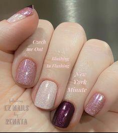 Nail Color Combos, Nail Colors, Fabulous Nails, Perfect Nails, Cute Nails, Pretty Nails, Geometric Nail Art, Nail Candy, Sparkle Nails
