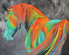Abstract horse by Landi-Michelle. #love #art #fashion #landimichellearts #landimichelle #abstractart  #abstractpainting #abstracthorse #colourful