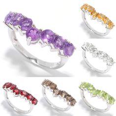 "<li>Gemstone stack ring</li><li>Sterling silver jewelry</li><li><a href=""http://www.overstock.com/downloads/pdf/2010_RingSizing.pdf""><span class=""links"">Click here for ring sizing guide</span></a></li>"