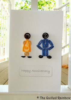 Quilled Anniversary Card by TheQuilledRainbow