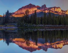 canmore sunrise reflection by Mark Bowen #xemtvhay