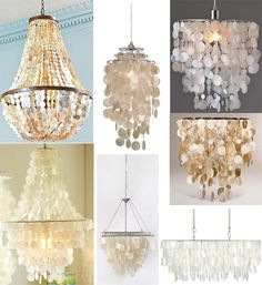 Capiz 34 pinterest shopping guide capiz chandeliers i am going to figure out how to make one of mozeypictures Choice Image