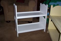 Doll bunk bed for american girl 18 inch dolls White by PineandMore, $45.99