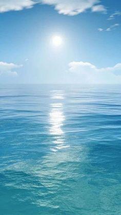 Blue Agate Ocean Necklace, Agate Pendant, Blue Stone Necklace, Caribbean Blue Pendant, Long Necklace