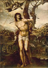 In Roman Catholicism, St. Sebastian is the patron saint of athletes as well as the patron saint of archers.
