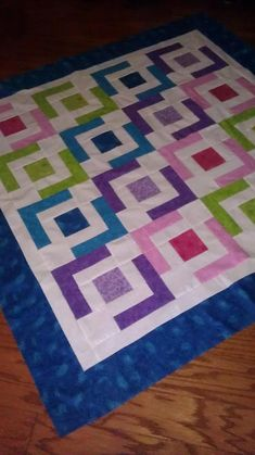 Easy and quick baby quilt pattern or increase blocks to make any size!
