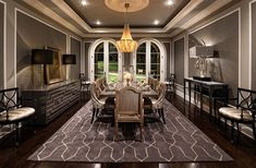50 Stylish and elegant dining room ceiling design ideas in modern homes : Dining Room Ceiling Design Ideas Brown Dining Room Theme Color Luxury Interior Design Dining Room Ceiling Design, Dining Decor, Dining Rooms, Best Dining Room Colors, Elegant Dining Room, Luxury Interior Design, Design Interiors, Modern Kitchen Design, Modern Design