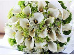 Brautstrauss weiß grün
