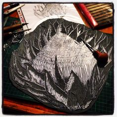 Process of my King Protea carving. A carving this size and detail takes me about a day to carve.