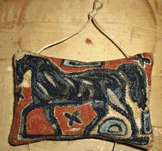 Primitive Punch Needle Folk Horse design by Notforgotten Farm