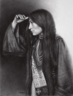 Stephanie Campos   Charcoal Portraits