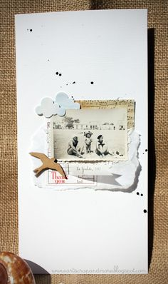 (Alexandra Sirugue-MacLeod) Beautiful airy layout with diagonal ink splotches creating flow. #6x12