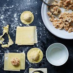 Crab Ravioli with Shallot Cream
