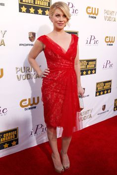 Critics' Choice Awards 2014 - Christina Applegate in Marchesa dress with Neil Lane jewellery, Christian Louboutin heels and an Edie Parker clutch.