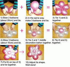 How to make a flower with balloons.