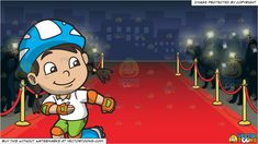 Vendor: vectortoon Type: Clipart Price: 20.00  Source Clipart  A Happy Skater Girl  A girl with black hair in low pig tails wearing a blue with white helmet white polo shirt with tannish brown collar green shorts orange with apple green elbow and knee pads gloves sky blue with white skates with gray wheels smiles while skating on her own.  Red Carpet Premiere Background  An evening for a world premiere with a stretch of red carpet lined by a gold and red stanchion set and a whole bunch of…