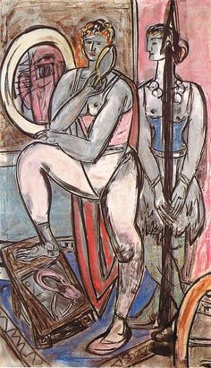 Max Beckmann, Unfinished Triptych Right Panel c1950