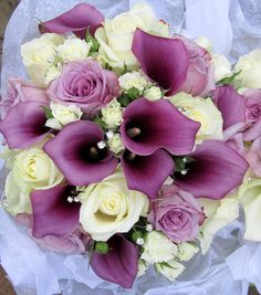 Purple calla lily bride's bouquet by theflowersmiths wedding flowers, via Flickr