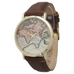Olivia Pratt Women's Travelers Leather Watch | Overstock.com Shopping - The Best Deals on More Brands Women's Watches