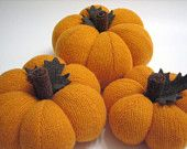 Trio of Fabric Sweater Thanksgiving Pumpkins Handmade from Felted Wool - Collection No. 21
