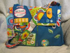 Girl Scout vest turned into a book bag