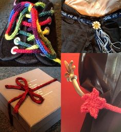 11 Intelligent Ideas for I-Cords - Jessie Ksanznak created this photo tutorial with lots of useful suggestions for using i-cords such as shoelaces, curtain tiebacks, package ribbon, belts, and more.