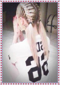 Easy hairstyles for Teens School 2018 - Hairstyles for School Birthday Hairstyles, Teen Hairstyles, Little Girl Hairstyles, Trending Hairstyles, 7th Grade Hairstyles, Fancy Hairstyles, Back To School Hairstyles For Teens, School Hairdos, Easy School Hairstyles