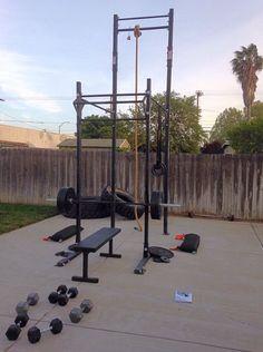 outdoor crossfit gym  crossfit garage gym backyard gym