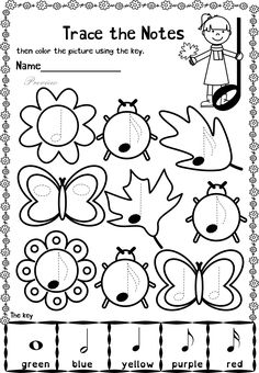 This set contains 20 Autumn themed trace and color music worksheets in two different formats pages in total). First kids trace music symbols, notes, rest and dynamics, then they color the picture using the key. All activities require no preparation Music Lessons For Kids, Music For Kids, Piano Lessons, Music Theory Worksheets, Piano Recital, Music Symbols, Piano Teaching, Music Activities, Elementary Music