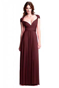 Sakura Burgundy Wine Maxi Convertible Dress - Sakura - Convertible Dresses - Shop ConvertiStyle