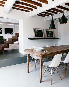 Stühle modern holz  Stühle für Esstisch holz modern holz balken | Essplatz und ...