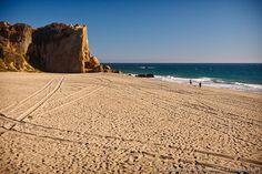 Point Dume at Zuma Beach, CA - rock climbing days...