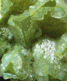 Calcite with Duftite and Dioptase - Tsumeb, Otjikoto Region, Namibia