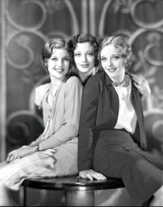 Loretta Young and her sisters Polly Ann and Elizabeth Jane. Grab a friend or two and make a way back time pictures... arent they lovely?