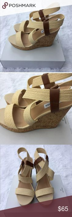 New Steve Madden Wedge Platform Sandals Size 10 New with box, never worn and no defects Steve Madden Shoes Wedges
