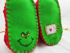 Grinch booties!