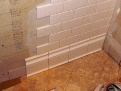 Baseboard Design Ideas Matching Tile Baseboard Easy to clean