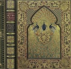 When it was completed in 1912, the Great Omar was the most elaborate and opulent binding ever created.  It was embellished with over 1,000 jewels, 5,000 leather onlays and 100 square feet of gold leaf.  It took a team of craftsmen over two and a half years to make.  It went down with the Titanic