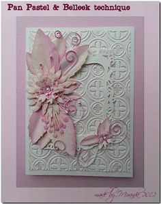 """use this link: http://www.splitcoaststampers.com/forums/19112051-post1.html  for instructions on creating cards """"Belleek"""" style (inspired by an Irish pottery technique)"""