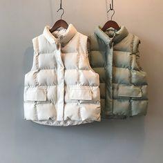 Loose Casual Sleeveless Jacket Cotton Vest | Down Vest, Puffer Vest, puffer outfit Cotton Vest, Cotton Pads, Vest Coat, Vest Jacket, Puffer Vest, Suits For Women, Jackets For Women, Clothes For Women, Winter Vest