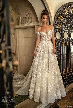 25e110d90e69 berta spring 2019 bridal off the shoulder sweetheart neckline full  embellishment